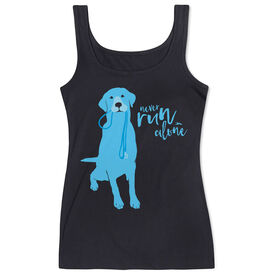Women's Athletic Tank Top Never Run Alone