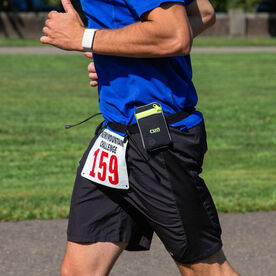 Race Bib Belt With Zipper Pouch for Runners/Triathletes