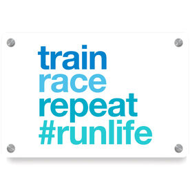 Running Metal Wall Art Panel - Train Race Repeat