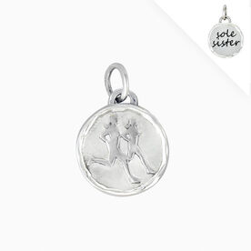 Livia Collection Sterling Silver Sole Sister Token Charm