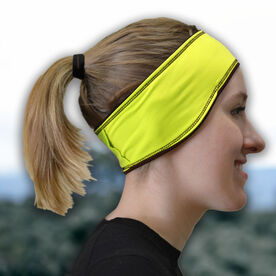 Running Reversible Performance Headband - Yellow/Black