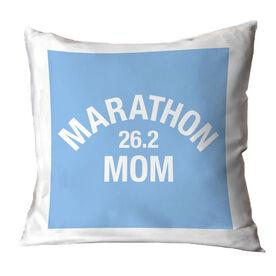 Running Throw Pillow - Marathon 26.2 Mom
