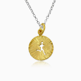 Livia Collection 14K Gold Vermeil Sunburst Runner Girl Necklace