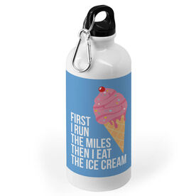Running 20 oz. Stainless Steel Water Bottle - Then I Eat The Ice Cream
