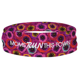 Running Multifunctional Headwear - Moms Run This Town Poppy Pattern