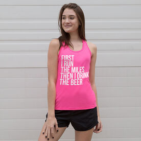 Women's Performance Tank Top - Then I Drink The Beer