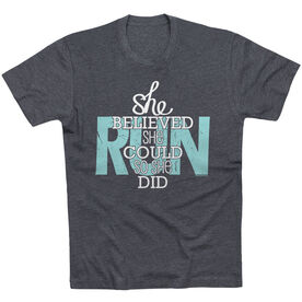 Running Short Sleeve T-Shirt - She Believed She Could So She Did