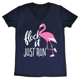 Women's Running Short Sleeve Tech Tee - Flock It Just Run
