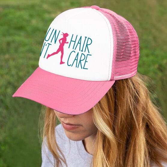 Running Trucker Hat Run Hair Don't Care