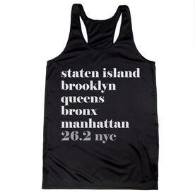 Women's Racerback Performance Tank Top - Run Mantra - NYC