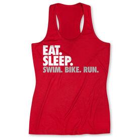 Women's Performance Tank Top Eat. Sleep. Swim. Bike. Run.
