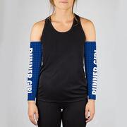 Running Printed Arm Sleeves - Runner Girl