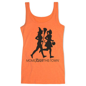 Women's Athletic Tank Top - Moms Run This Town Halloween