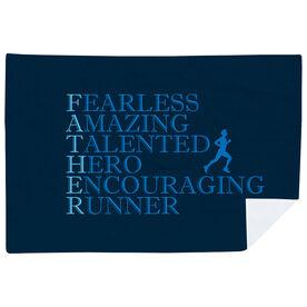 Running Premium Blanket - Father Words