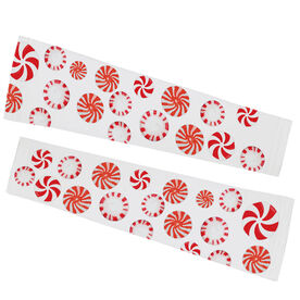 Running Printed Arm Sleeves - Peppermint Candy