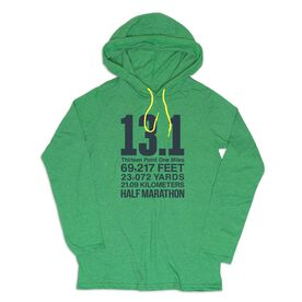 Men's Running Lightweight Hoodie - 13.1 Math Miles