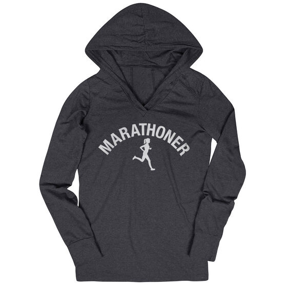 Women's Running Lightweight Performance Hoodie - Marathoner Girl