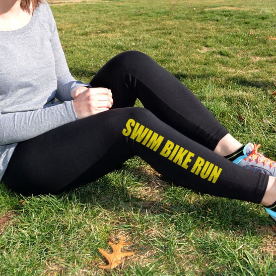 Triathlon Leggings Swim Bike Run