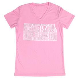 Women's Running Short Sleeve Tech Tee Kansas State Runner