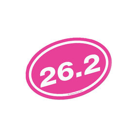 26.2 Marathon Pink Mini Car Magnet - Fun Size
