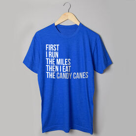 Running Short Sleeve T-Shirt - Then I Eat The Candy Canes