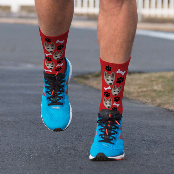 Printed Mid-Calf Socks - Custom Dog Face