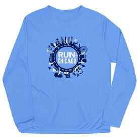 Men's Running Long Sleeve Performance Tee - Run For Chicago
