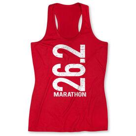 Women's Performance Tank Top 26.2 Marathon Vertical
