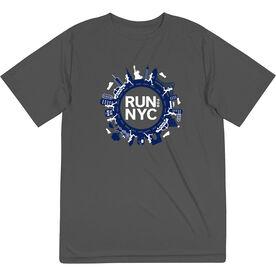 Men's Running Short Sleeve Performance Tee - Run For NYC