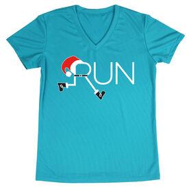 Women's Running Short Sleeve Tech Tee - Let's Run For Christmas