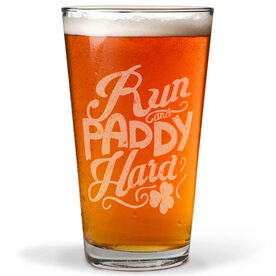Running 16 oz Beer Pint Glass Run and Paddy