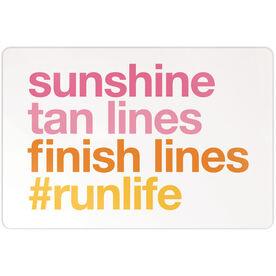"Running 18"" X 12"" Aluminum Room Sign - Sunshine Tan Lines Finish Lines"