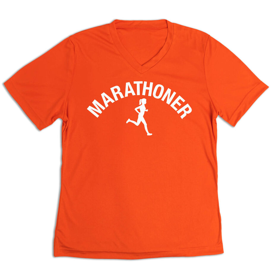 Women's Short Sleeve Tech Tee - Marathoner Girl