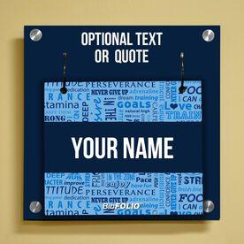 Personalized Running Motivation Wall BibFOLIO® Display