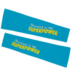 Running Printed Arm Sleeves - Running Is My Superpower