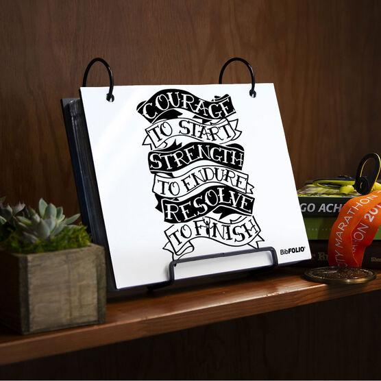 BibFOLIO® Race Bib Album - Courage to Start Tattoo