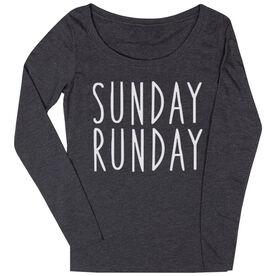 Women's Runner Scoop Neck Long Sleeve Tee - Sunday Runday
