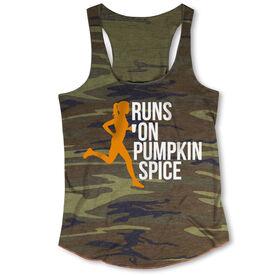 Running Camouflage Racerback Tank Top - Runs On Pumpkin Spice