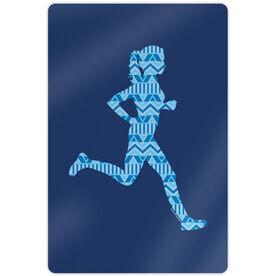 """Running 18"""" X 12"""" Wall Art - Runner Girl Aztec Pattern"""