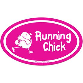 Running Chick Car Magnet - Pink