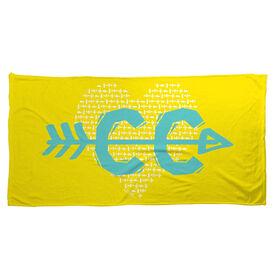Cross Country Beach Towel CC Heart