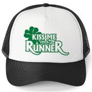 Running Trucker Hat Kiss Me I'm A Runner Shamrock
