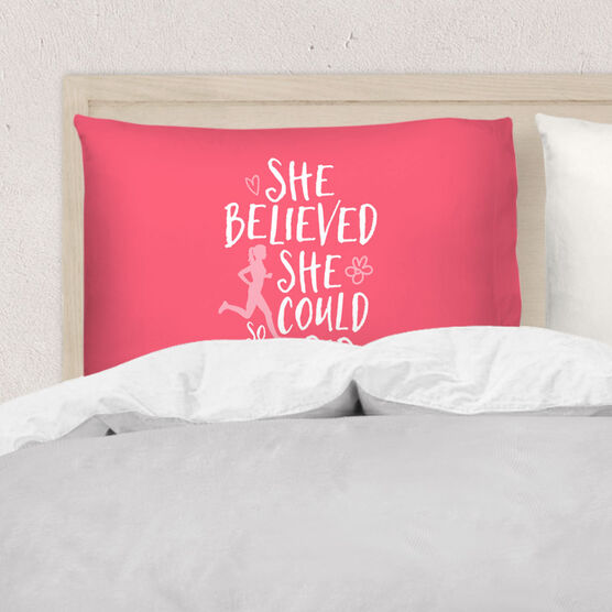 Running Pillowcase - She Believed She Could (Sketch)