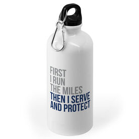Running 20 oz. Stainless Steel Water Bottle - Then I Serve and Protect