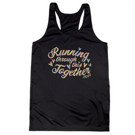Women's Racerback Performance Tank Top - Running Through This Together 2020