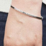 InspireME Cuff Bracelet - Dream Believe Achieve