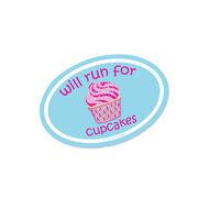 Running Mini Car Magnet - Fun Size Will Run for Cupcakes