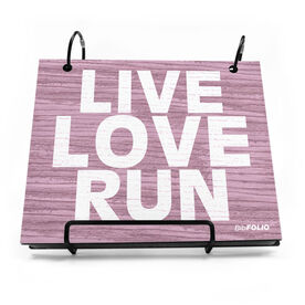 BibFOLIO® Race Bib Album - Live Love Run Rustic