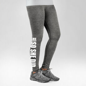 Running Performance Tights She Believed So She Did