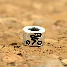 Sterling Silver Cyclist Large Hole Bead
